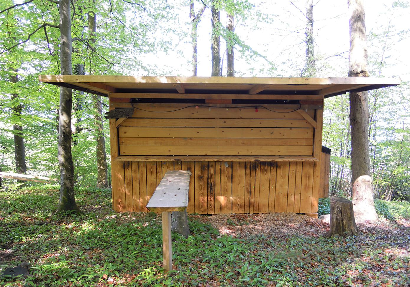 Bau einer neuen Hütte